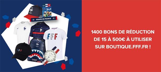 Tentez de remporter un bon de réduction FFF de 15€ à 500€