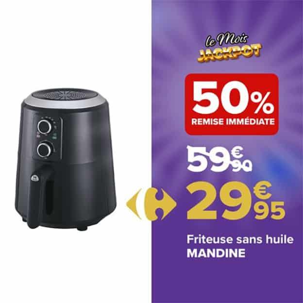 Promo Carrefour : Friteuse sans huile pas chère
