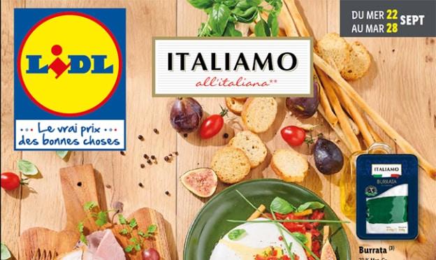Catalogue Lidl Italiamo du 22 au 28 septembre 2021