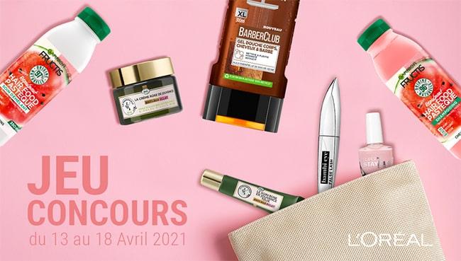 Tentez de gagner des cosmétiques L'Oréal avec Cora