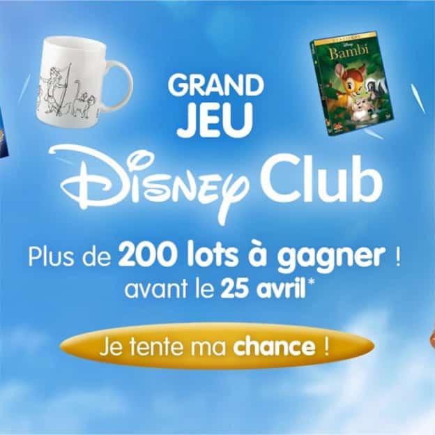 Jeu Disney Club Hachette : 250 lots Disney à gagner