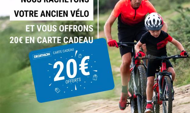Decathlon Occasion : Vente / rachat vélo + 20€ offerts en carte cadeau