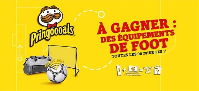 Tentez de gagner un cadeau de foot avec le code unique Pringles