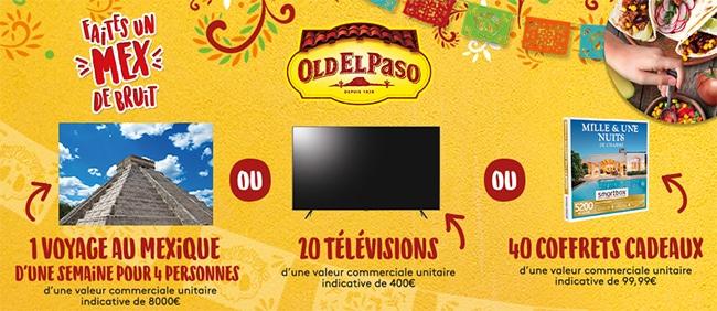 Cadeaux offerts au jeu Old El Paso
