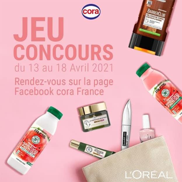 Jeu Cora : Box de cosmétiques L'Oréal à gagner