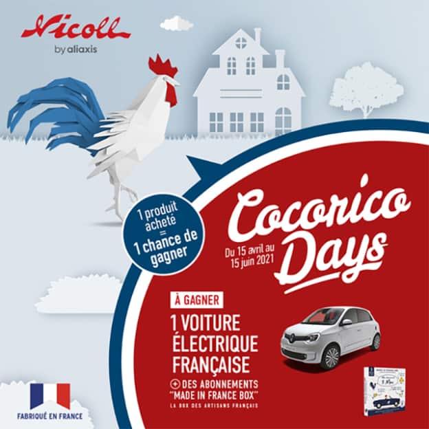 Jeu Cocorico Day Nicoll : box cadeau et Renault Twingo électrique à gagner