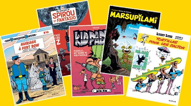 bandes dessinées belges offertes avec vos achats La Laitière
