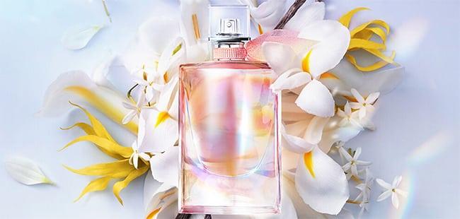 échantillon de l'eau de parfum Lancôme La Vie est Belle Soleil Cristal