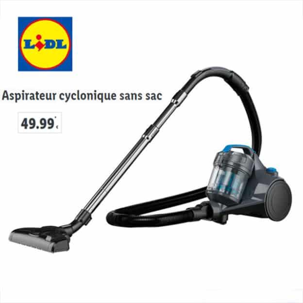 Lidl : Aspirateur cyclonique sans sac pas cher