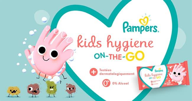 Testez gratuitement les nouvelles lingettes Kids Hygiene On-The-Go de Pampers