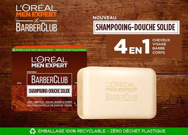 tester le shampooing-douche solide Barber Club L'Oréal Men Expert