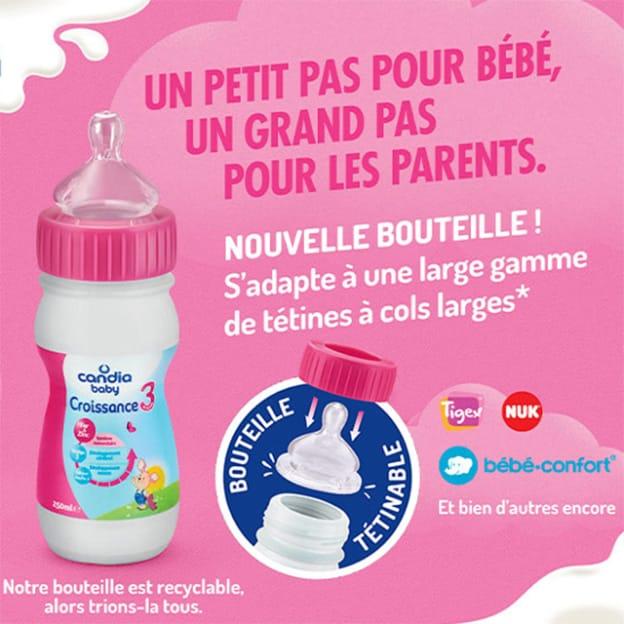 Test Candia Baby : 2'000 packs gratuits de lait infantile + tétines