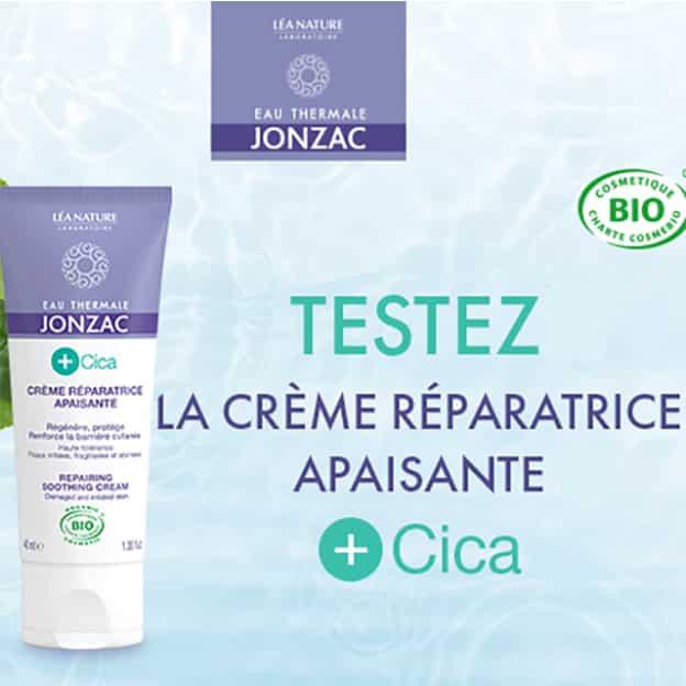 Test Jonzac : Crème réparatrice apaisante +Cica