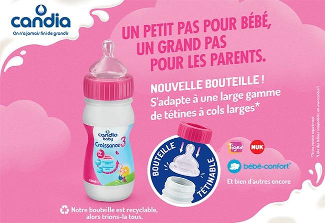 tester gratuitement les bouteilles de lait Candia Baby avec Sampleo