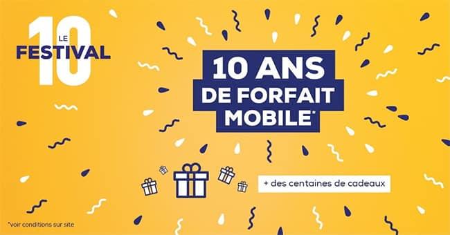 Remportez 10 ans de forfait mobile ou un autre lot au jeu La Poste Mobile