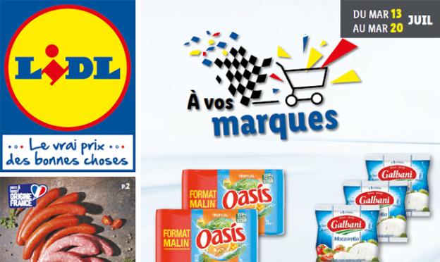 Catalogue Lidl promo marques de juillet 2021