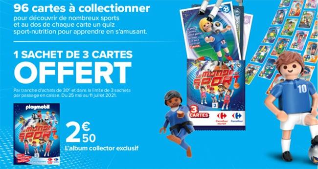 Obtenez jusqu'à 96 cartes Playmobil à coller dans l'album collector exclusif