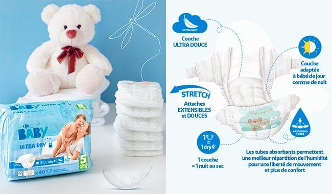 Testez gratuitement les couches My Carrefous Baby Dry avec Sampleo