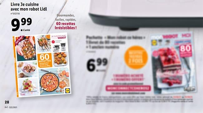 Livre de cuisine pour robot Monsieur Cuisine Connect à petit prix