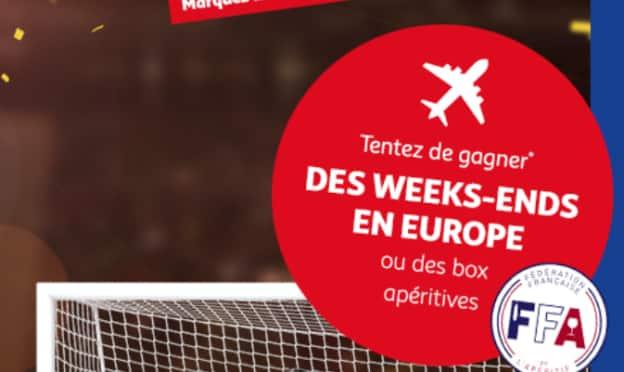 Jeu Auchan foot 2021 : Box Apéritive et séjours à gagner