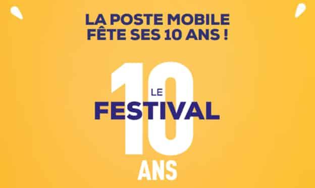 Jeu 10 ans La Poste Mobile : cadeaux à gagner