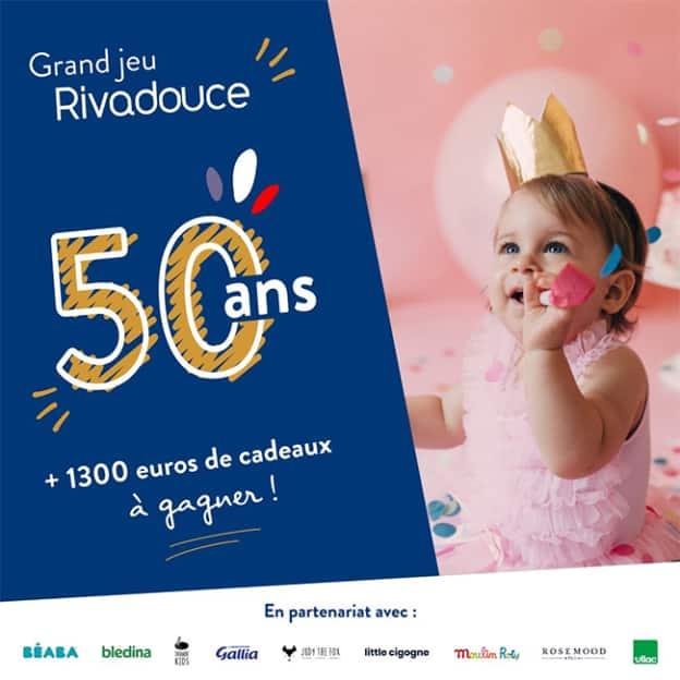 Jeu Rivadouce : + de 1300€ cadeaux pour bébés à gagner