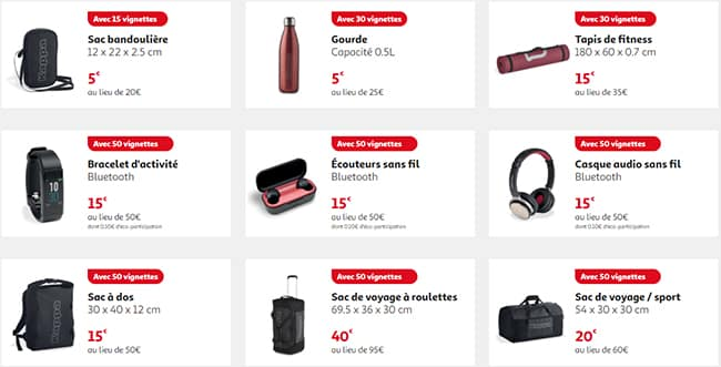 les 9 produits Kappa éligibles à l'offre fidélité d'Auchan