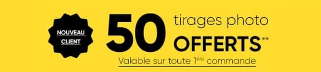 Obtenez 50 tirages photo offert avec le code promo Fnac