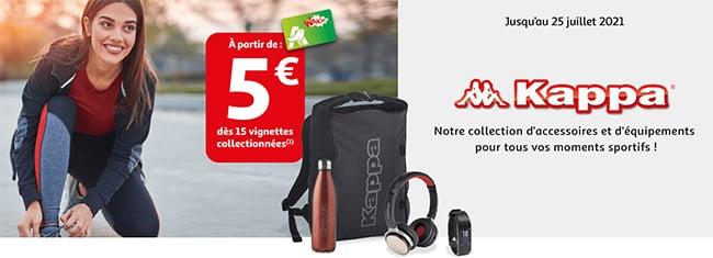 Équipements sportifs et accessoires Kappa avec les vignettes Auchan