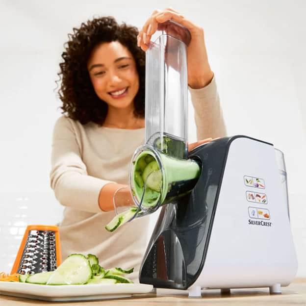 Lidl : râpe à légumes électrique SilverCrest pas chère
