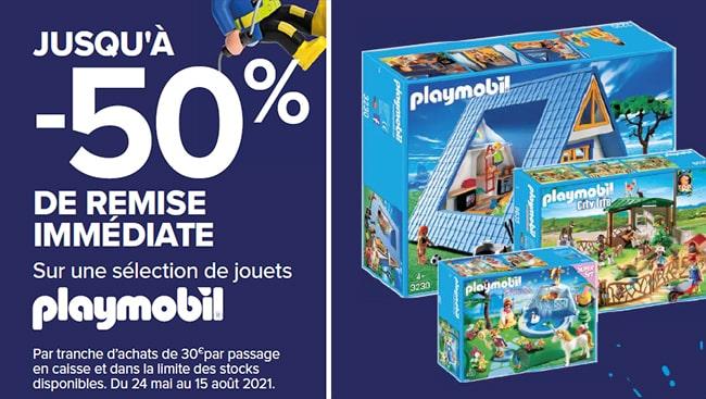 50% de remise immédiate sur une sélection de jouets Playmobil