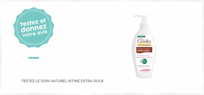 tester le soin naturel toilette intime Extra-Doux de Rogé Cavaillès