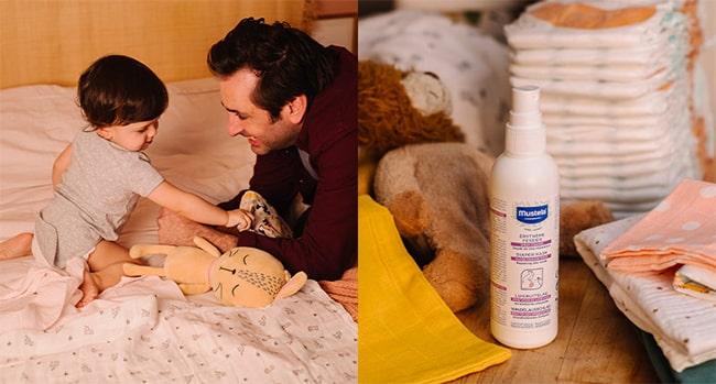 Testez gratuitement le Spray Change de Mustela avec Sampleo
