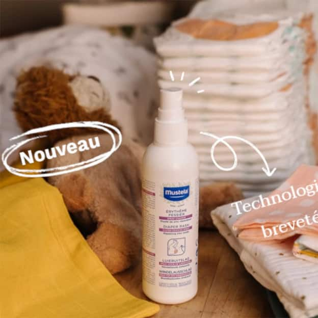 Test Mustela : Sprays de change végan