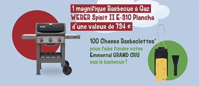 Remportez un barbecue à gaz Weber ou un Cheese Barbeclette avec le jeu Monts&Terroirs