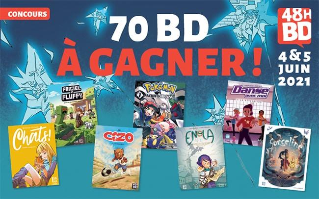 Tentez de remporter 7 bandes dessinées 48H BD 2021