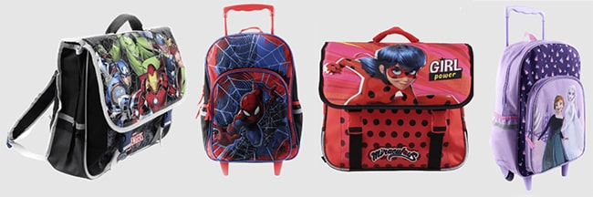 Sacs d'école Reine des Neige, Miraculous, Avengers ou Spider-man à petit prix chez Aldi