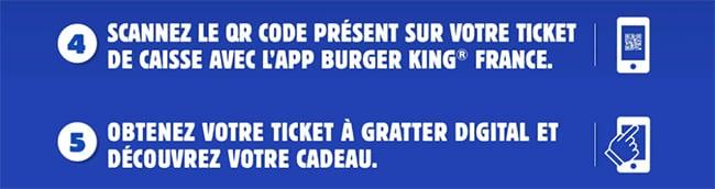 jouer avec mon QR code sur l'appli gratuite Burger King France