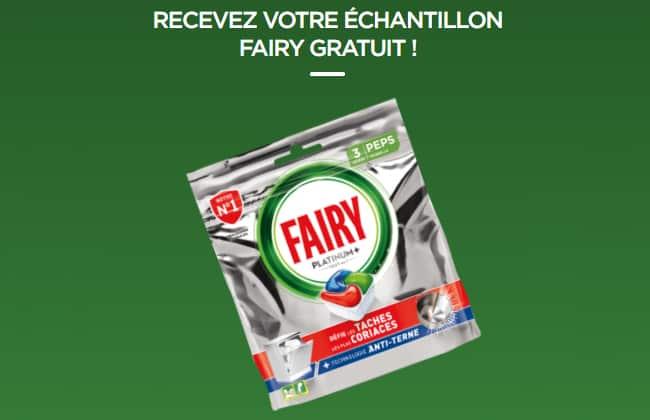 Recevez gratuitement 3 capsules pour lave-vaisselle Fairy Platinium Plus