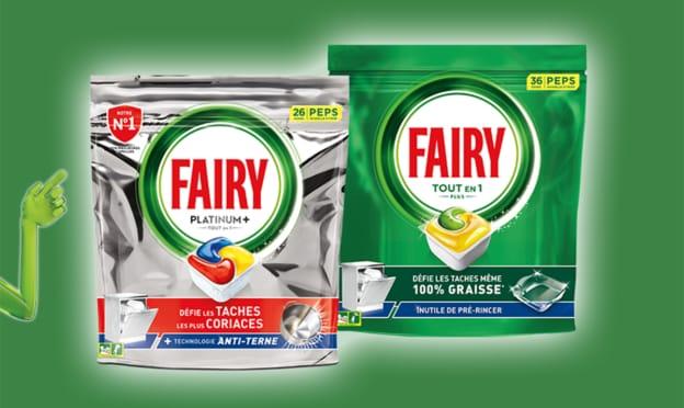 échantillons gratuits Fairy