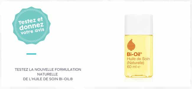 Tentez de tester gratuitement l'huile de soin naturelle Bi-Oil avec Aufeminin