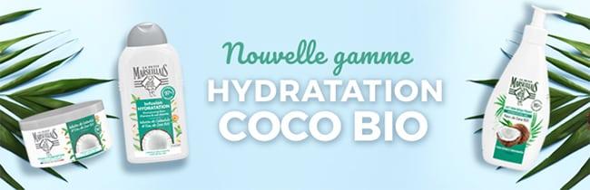 Testez gratuitement la routine Hydratation Coco Bio Le Petit Marseillais