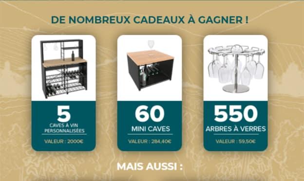 Jeu L'Atelier du vin Carrefour : cadeaux à gagner