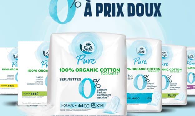 Jeu Carrefour : coffrets de protections hygiéniques Soft Pure à gagner