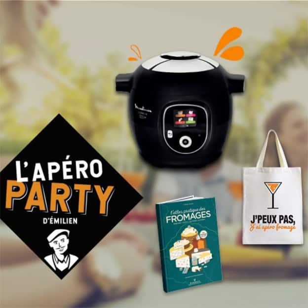 Jeu Apéro Party d'Émilien : Cookeo et cadeaux à gagner