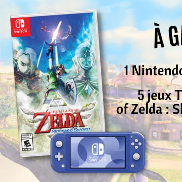 Jeu GEO Ado : 1 Nintendo Switch Lite et 5 jeux Zelda à gagner