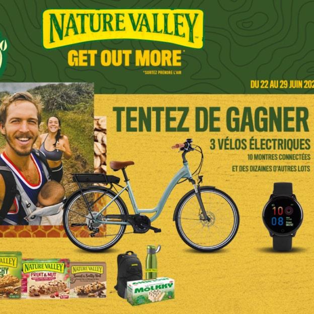 Jeu Nature Valley : Vélos électriques et cadeaux à gagner