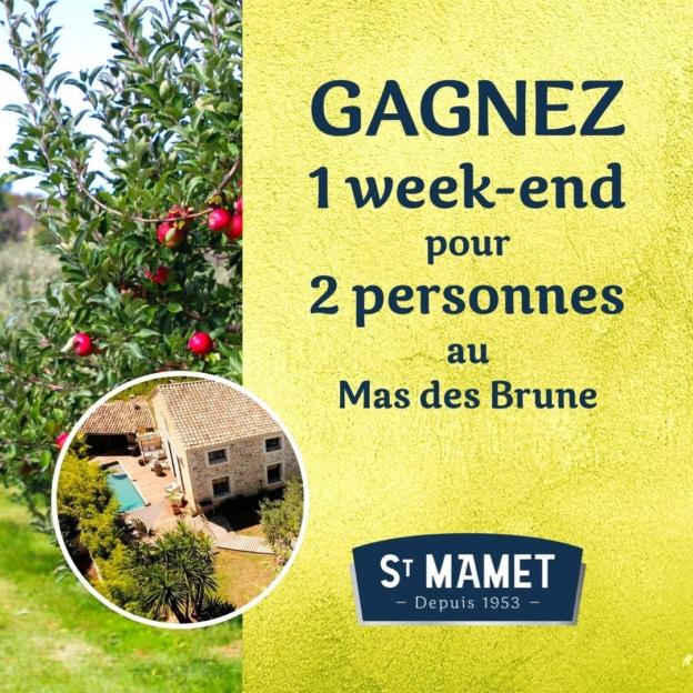 Jeu Saint Mamet : 7 week-ends et 850 cadeaux à gagner