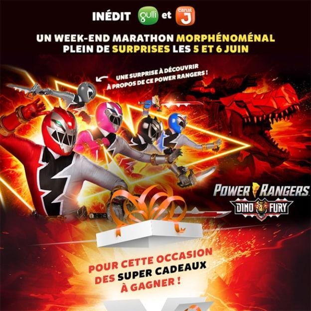 Remportez un lot Power Rangers avec Gulli