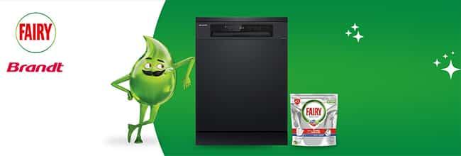 Gagnez un lave-vaisselle Brandt et 3 mois de dosettes Fairy